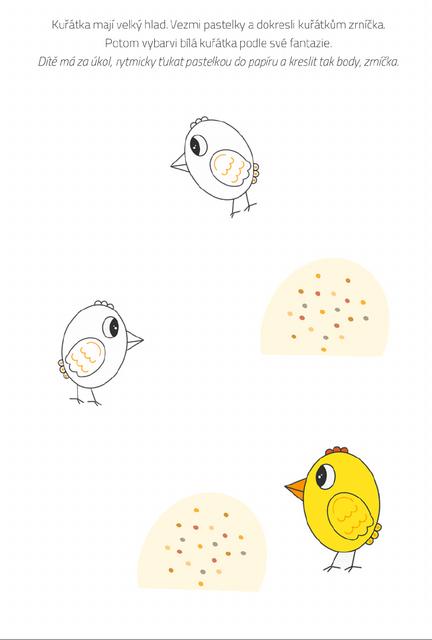 Kuřátka a zrní